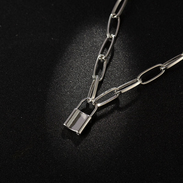 Chunky Lock Necklace - Damnbling
