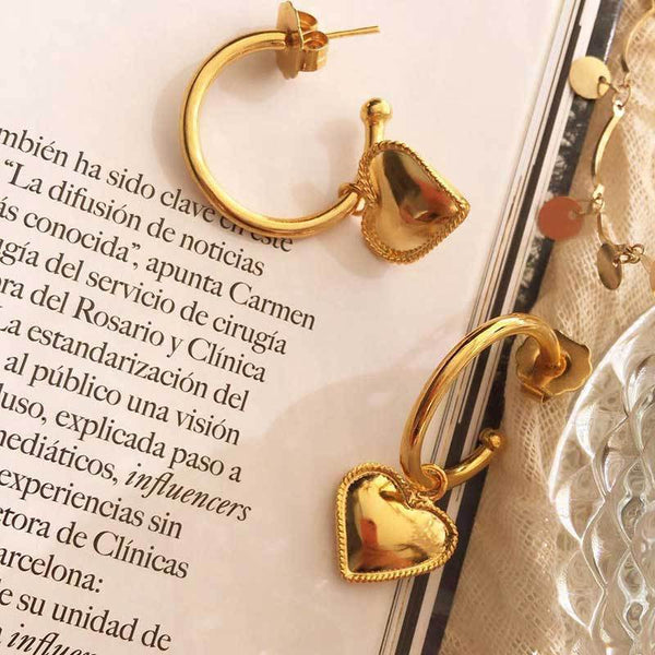 Vintage Gold Mini Hoop Earrings - Damnbling