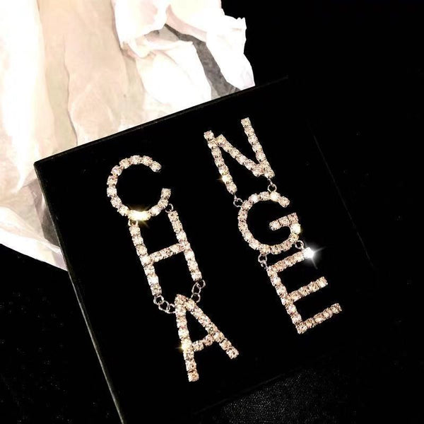 CC Style Runway Diamond Drop Earrings - Damnbling