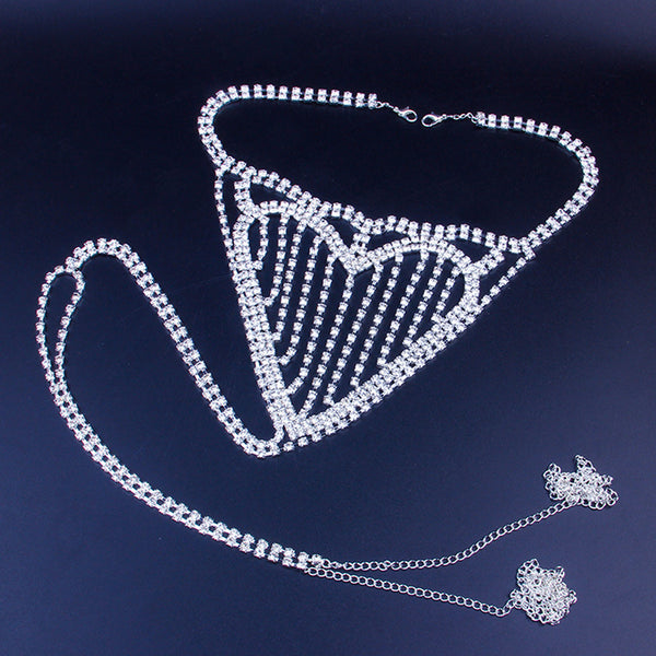 Heart Diamond Bling Panty Chain - Damnbling