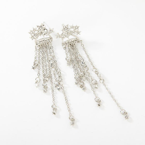 Meteor Star Shower Tassel Earrings - Damnbling