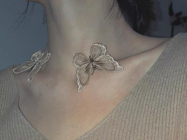 Fairy Lace Butterfly Necklace - Damnbling