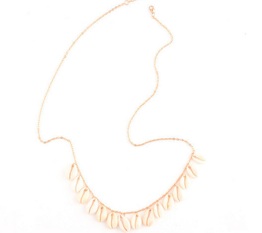 White Sea Shell Waist Chain - Damnbling