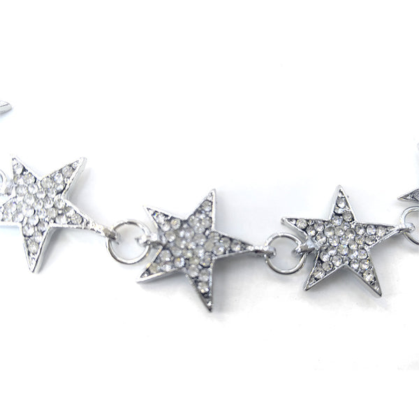 Diamond Stars Short Necklace - Damnbling