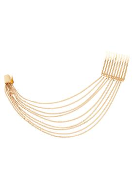 Gold Chain Hair Pin Ear Cuff - Damnbling