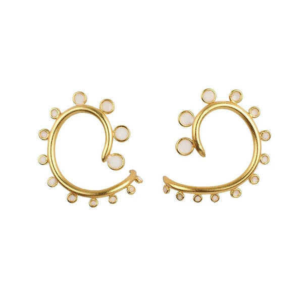Gold Spiky Snail Post Earrings - Damnbling
