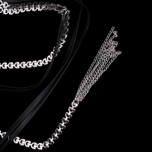 Black Chain Long Layering Necklace - Damnbling