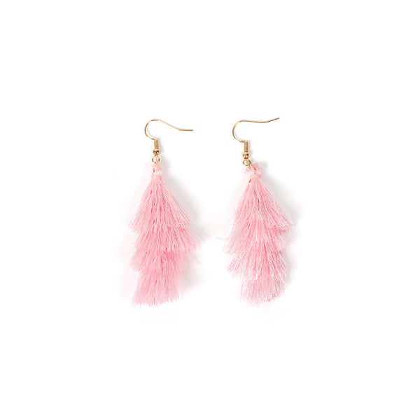 Bohemian Tassel Long Drop Earrings - Damnbling