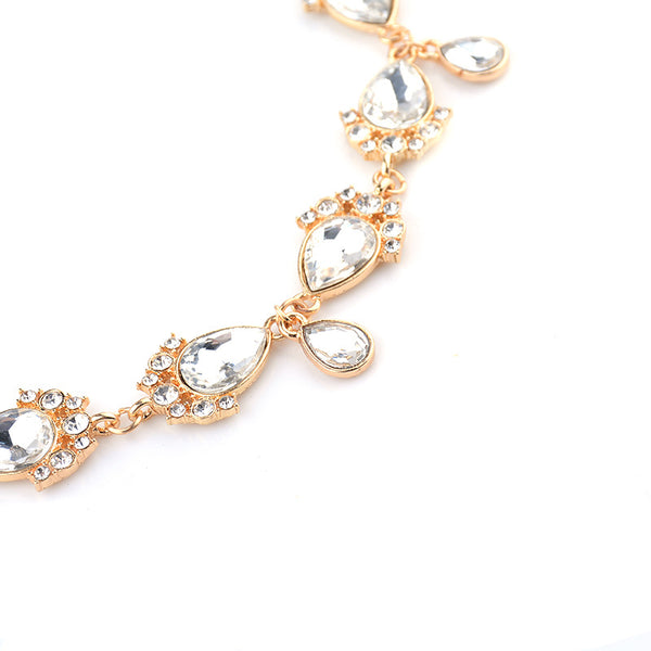 Diamond Jewel Bracelet Hand Chain - Damnbling
