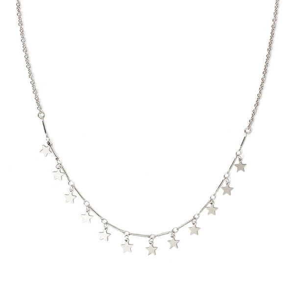 Petite Stars Charm Necklace - Damnbling