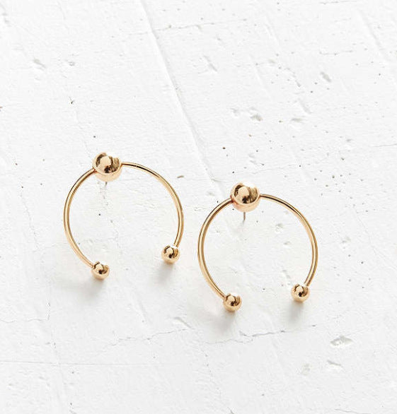 Modern Opening Hoop Earrings - Damnbling