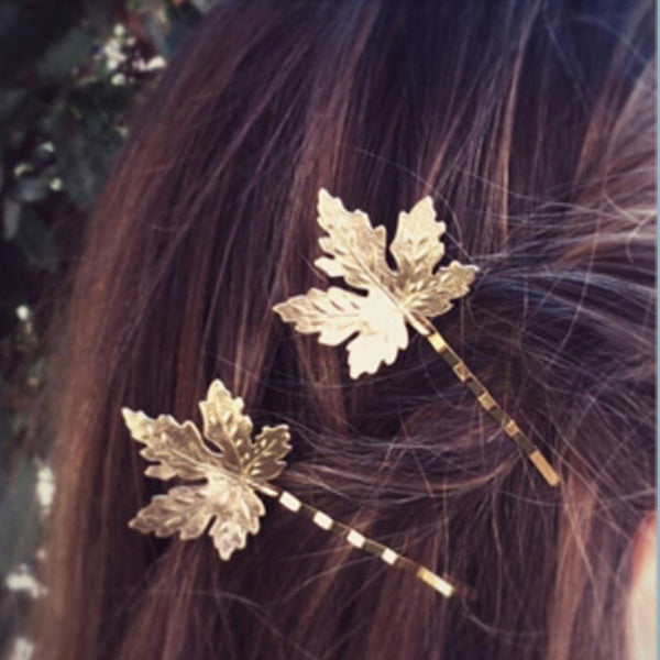 Gold Maple Leaf Hair Pin - Damnbling