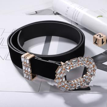 Oval Diamond Classic Black Belt - Damnbling