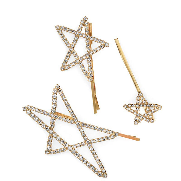 Pentagram Hollow Star Hair Pin - Damnbling