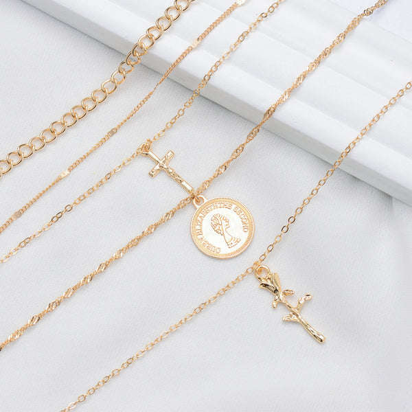 Gold Coin Long Layering Necklace - Damnbling