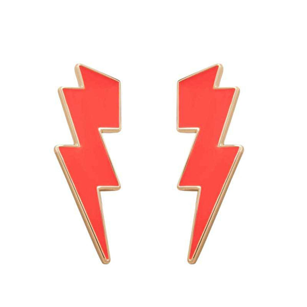 Neon Lightening Studs Earrings - Damnbling