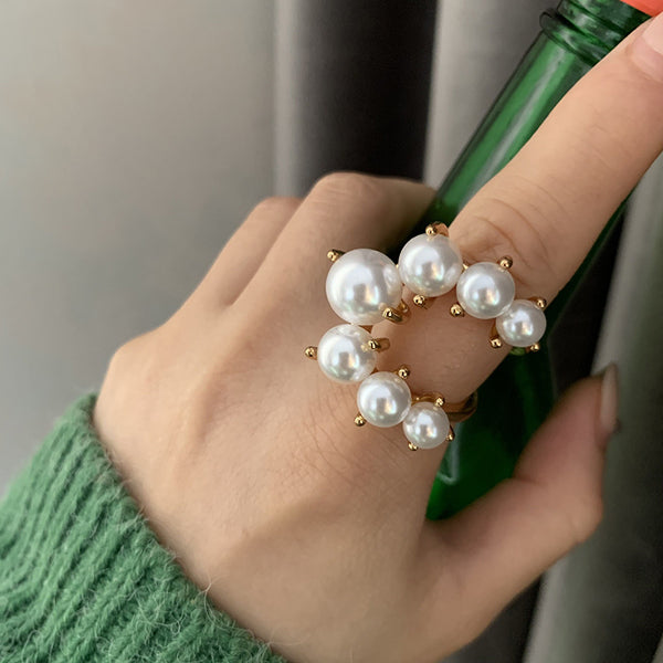 Cresent Pearl Statement Ring - Damnbling