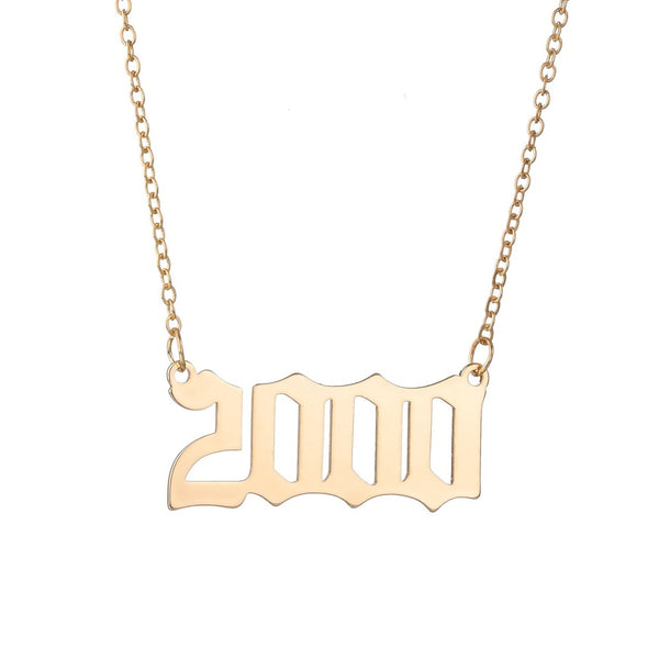 Choose Your Year Slim Necklace - Damnbling