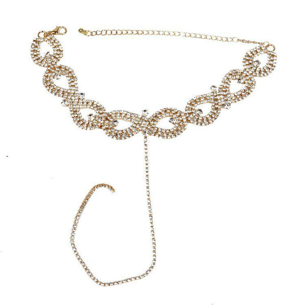 Twisted Bling Diamond Long Necklace - Damnbling