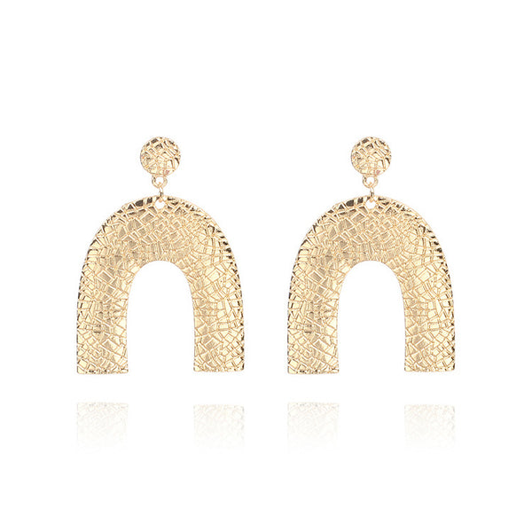 U Shaped Drop Earrings - Damnbling