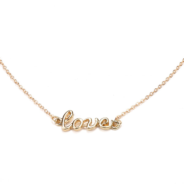 LOVE Test Cross Long Layering Necklace - Damnbling