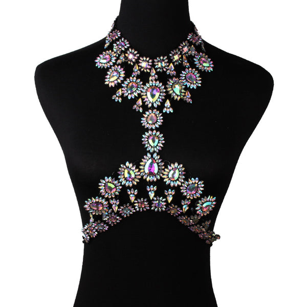 Black Gem Body Chain - Damnbling