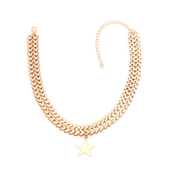 Star Pendent Wide Necklace - Damnbling