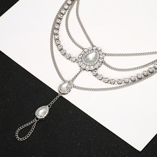 Diamond Drop Foot Chain - Damnbling