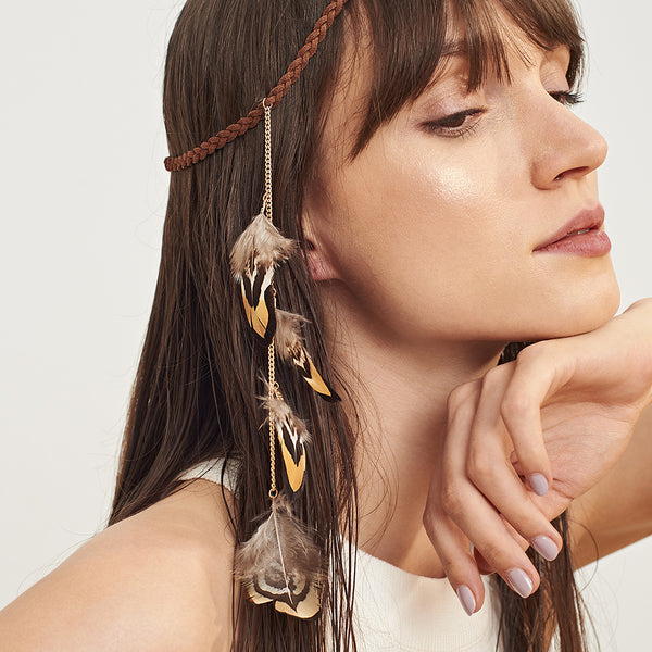 Eagle Feather Hair Headband - Damnbling