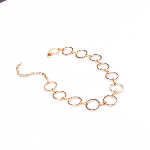 Classic Rose Gold Link Short Necklace - Damnbling