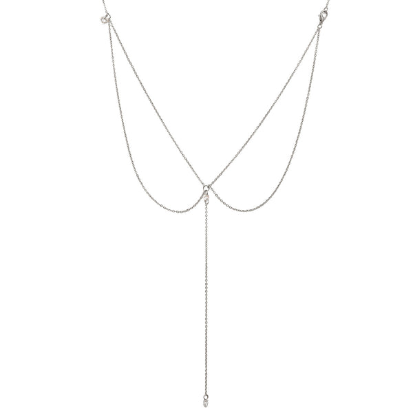 Diamond Smooth Body Back Chain - Damnbling