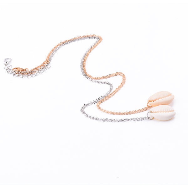 Sea Shell Pendent Necklace - Damnbling