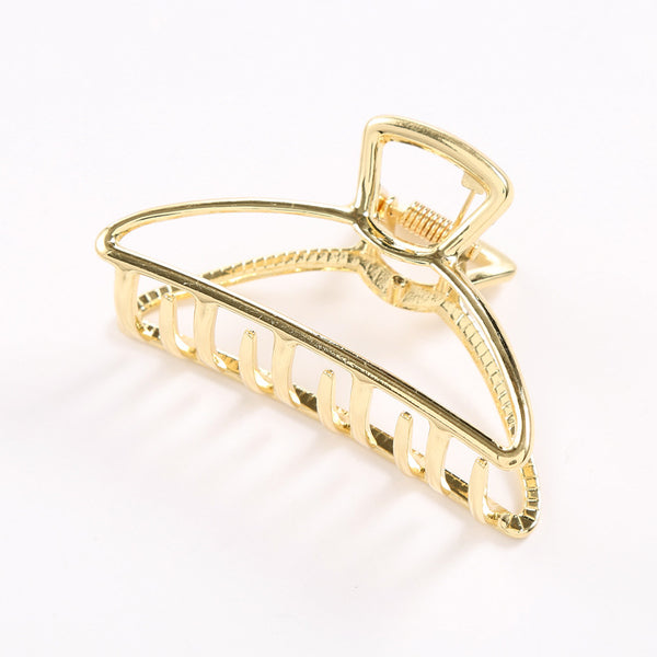 Metallic Triangle Hollow Claw Clip - Damnbling