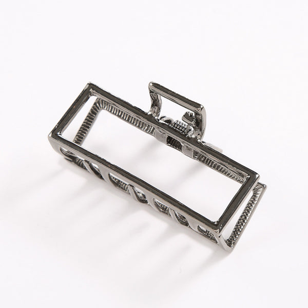 Metallic Square Hollow Claw Clip - Damnbling