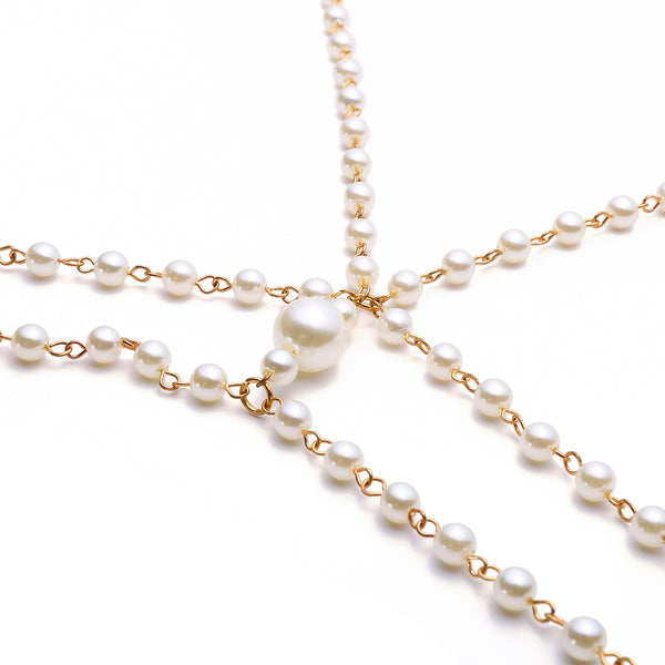 Classic Pearl Body Chain - Damnbling