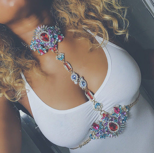 Vibrant Gem Body Chain - Damnbling