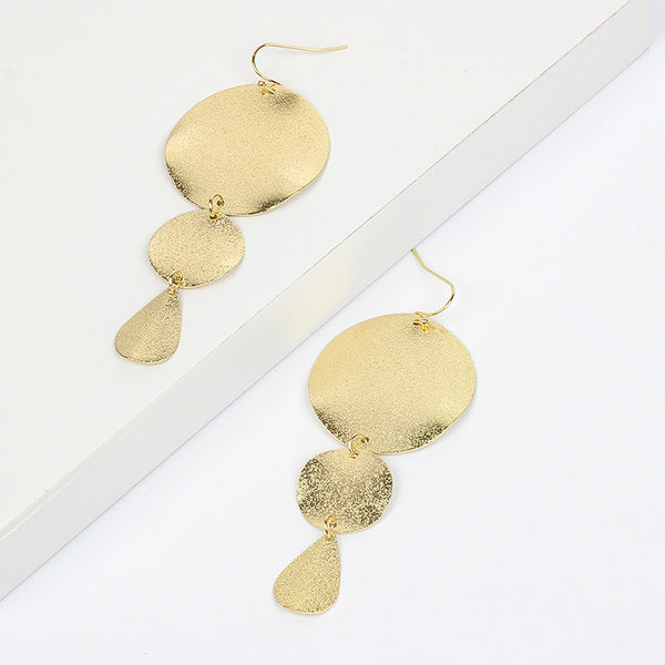 Gold Plated Drop Earrings - Damnbling