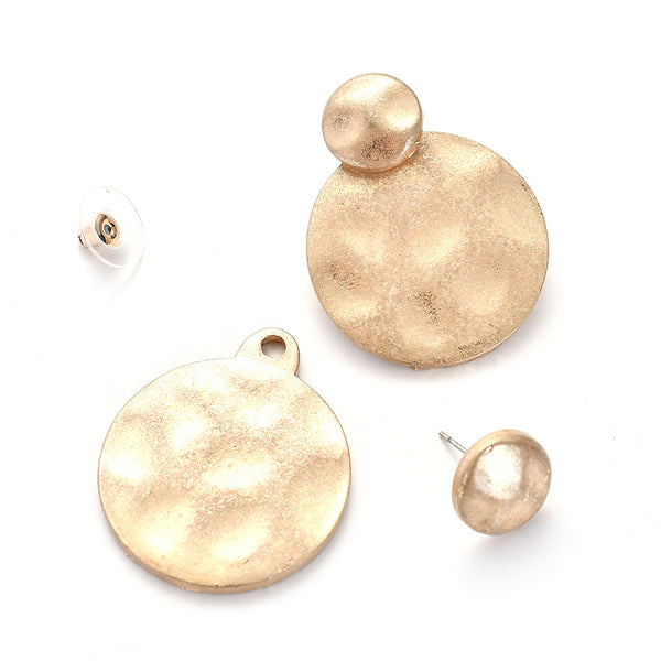 Gold Plated Statement Earrings - Damnbling