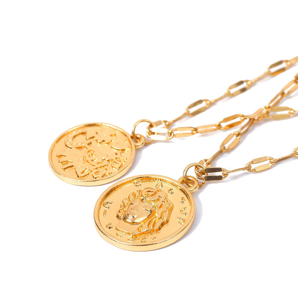 Gold Coin Small Curb Chain Bracelet - Damnbling