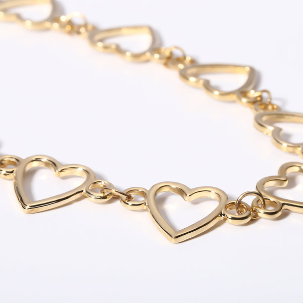 Heart Hollow Short Necklace - Damnbling