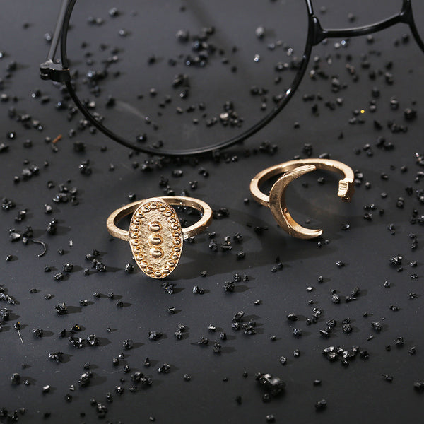 Moon Arch Layering Ring Set - Damnbling