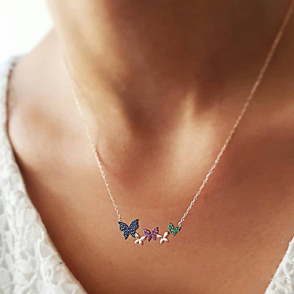 Bling Butterfly Pendent Necklace - Damnbling
