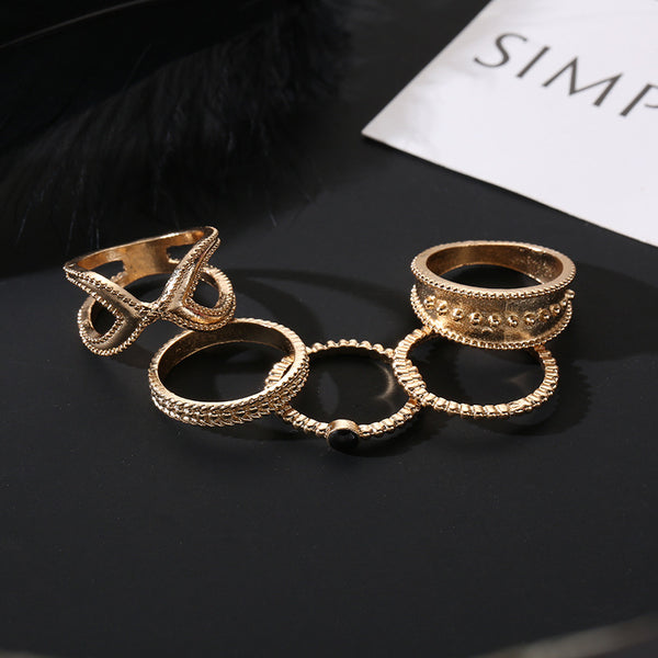Essential Statement Layering Ring Set - Damnbling