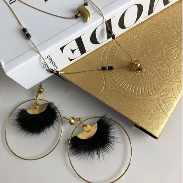 Geometric Brushed Gold Hoop Earrings - Damnbling