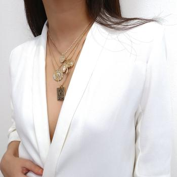 Jesus Gold Coin Layering Necklace - Damnbling