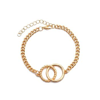 Gold Twisted Skull Bracelet Set - Damnbling