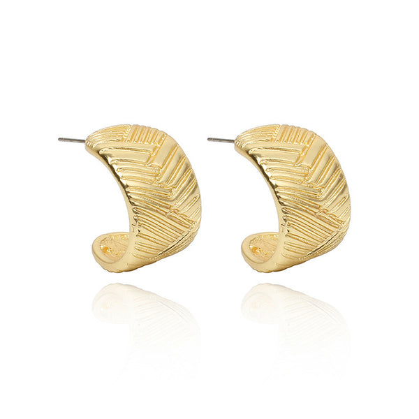 Vintage Crooked Golden Post Earrings - Damnbling