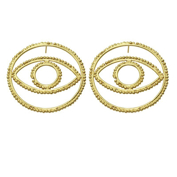 Bling Bling Evil Eye Studs Post Earrings - Damnbling