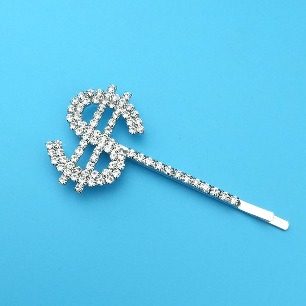 Dollar $ Diamond Hair Pin - Damnbling