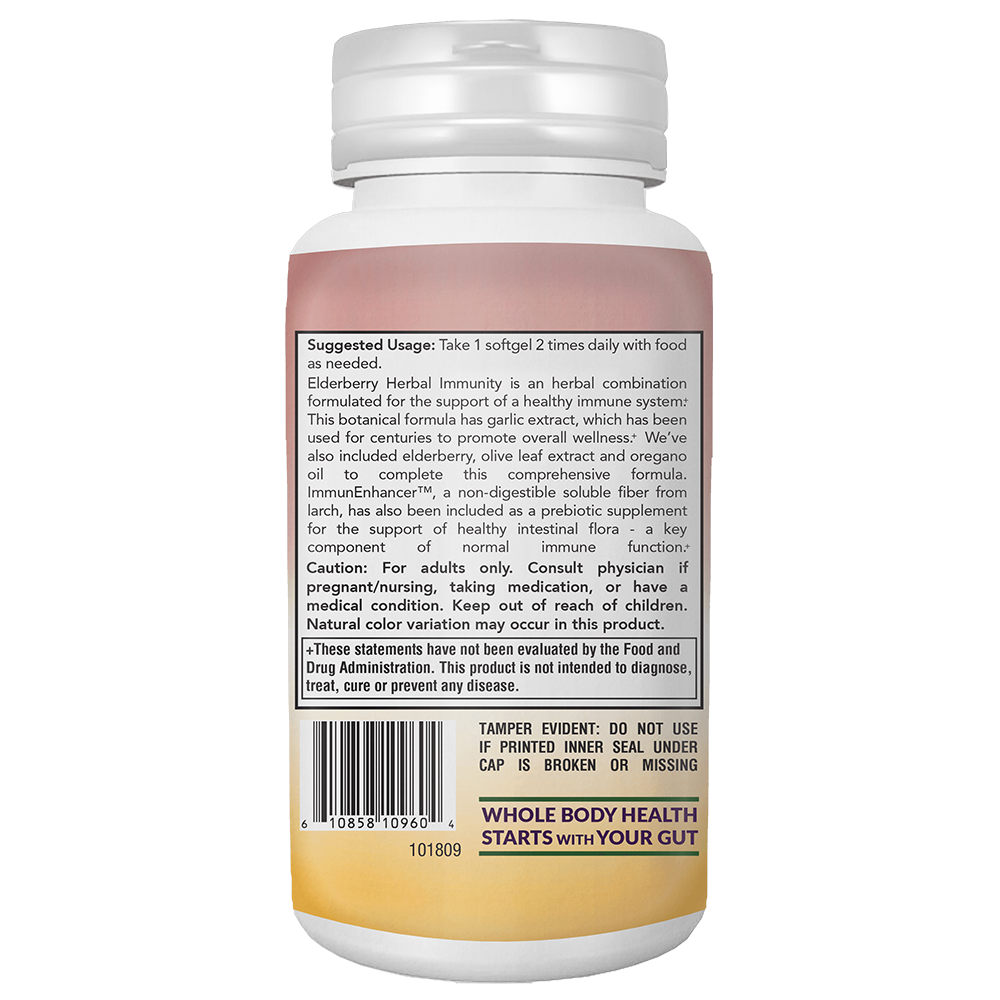 Konsyl Elderberry Herbal Immunity Softgels
